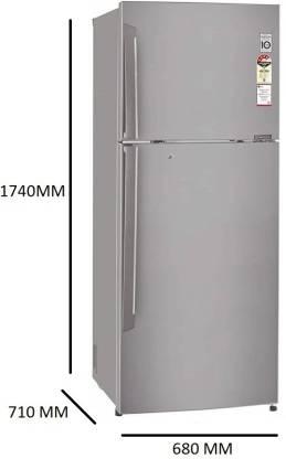 LG 420 L 3 Star Frost Free Double Door Refrigerator (GL-I472QPZX)