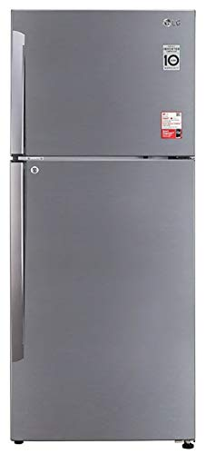 LG 437 L 2 Star Smart Inverter Frost-Free Double Door Refrigerator (GL-T432APZY, Shiny Steel, Convertible)