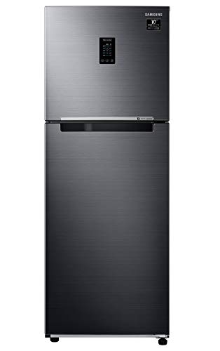 Samsung 314 L 2 Star Inverter Frost-Free Double Door Refrigerator (RT34A4622BX/HL, Luxe Black, Curd Maestro, Convertible)