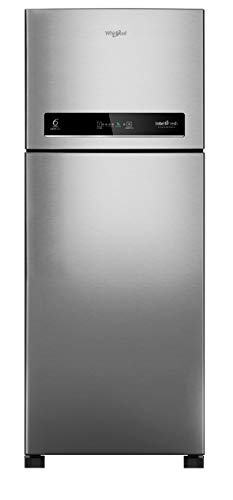 Whirlpool 440 L 3 Star Inverter Frost-Free Double Door Refrigerator (INTELLIFRESH INV CNV 455 3S, Alpha Steel, Convertible)