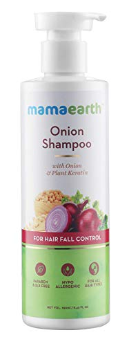 Mamaearth Onion Shampoo For Hair Growth And Hair Fall Control With Onion Oil And Plant Keratin