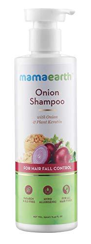 MamaEarth Onion Shampoo for Hair Growth & Hair Fall Control with Onion Oil & Plant Keratin