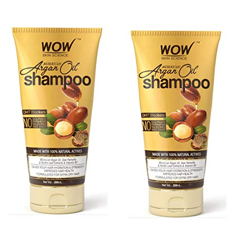 Wow Skin Science Moroccan Argan Oil Shampoo (With Dht Blocker)