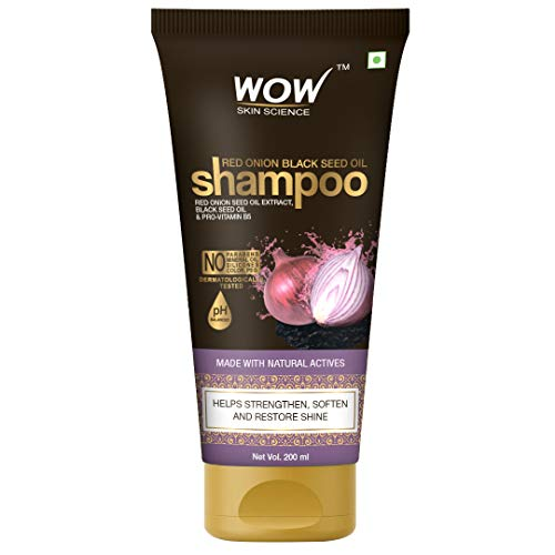 Wow Skin Science Red Onion Black Seed Oil Shampoo With Red Onion Seed Oil Extract, Black Seed Oil & Pro-Vitamin B5