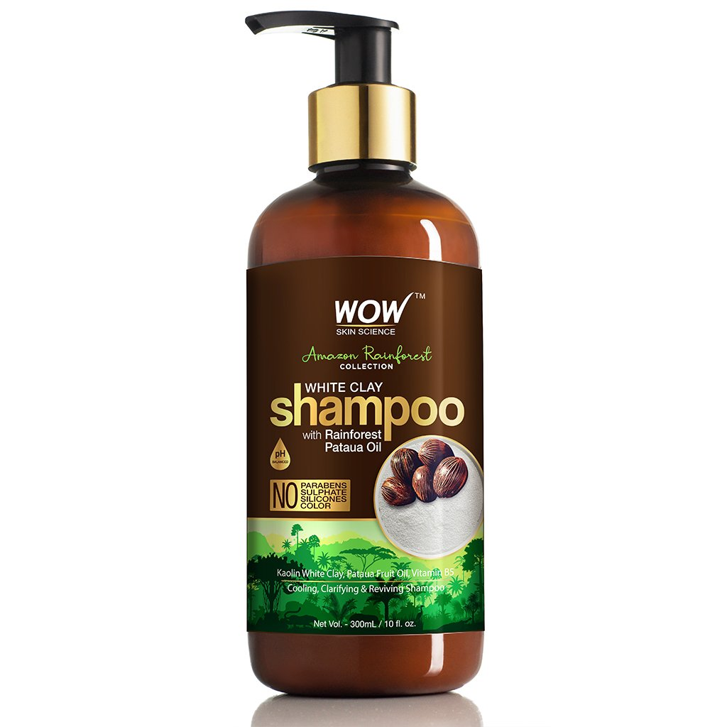 Wow Amazon Rainforest Collection, White Clay Shampoo with Rainforest Pataua Oil