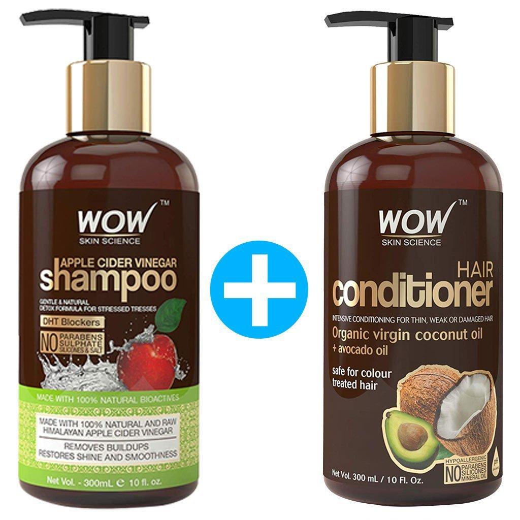 Wow Apple Cider Vinegar Shampoo, Wowsome Twosome s Hair Care Package