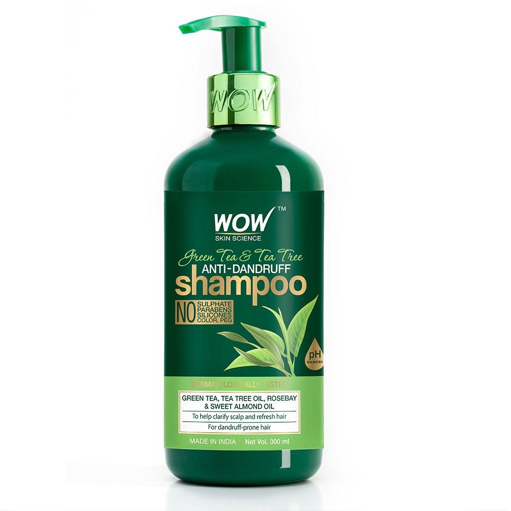 Wow Green Tea & Tea Tree Anti-Dandruff Shampoo