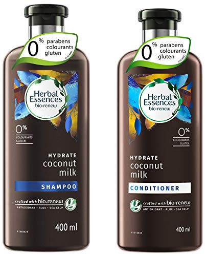 Herbal Essences Coconut Milk Shampoo And Conditioner Combo, 400ml + 400ml