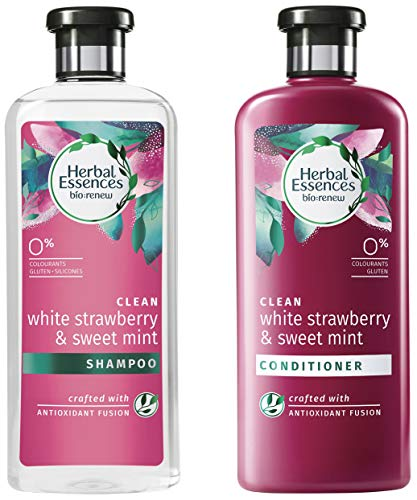 Herbal Essences White Strawberry & Sweet Mint Shampoo And Conditioner Combo, 400ml + 400ml)