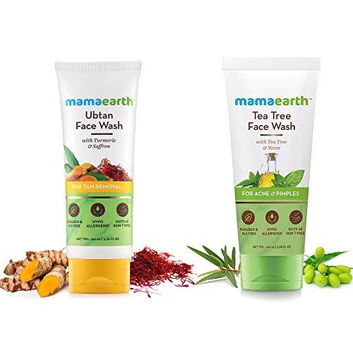 MamaEarth Ubtan Face Wash + Tea Tree Face Wash