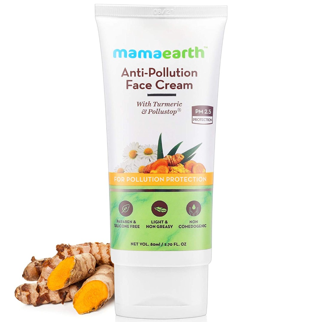 MamaEarth Anti-Pollution Daily Face Cream with Turmeric & Pollustop