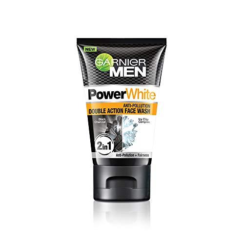 Garnier Men Power White Anti-Pollution Double Action Facewash