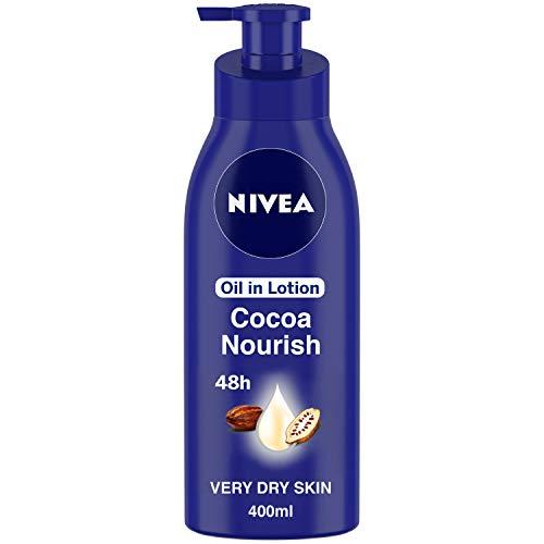 NIVEA Body Lotion for Very Dry Skin, Cocoa Nourish, with Coconut Oil & Cocoa Butter