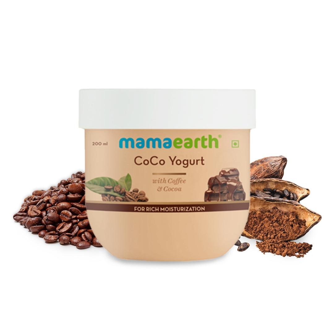 MamaEarth Coco Yogurt, with Coffee & Cocoa for Rich Moisturization