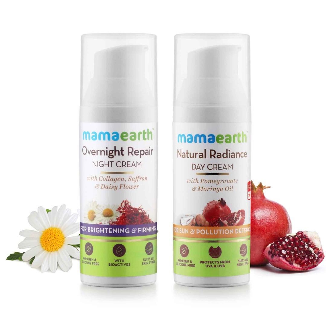 MamaEarth Day & Night Cream Combo
