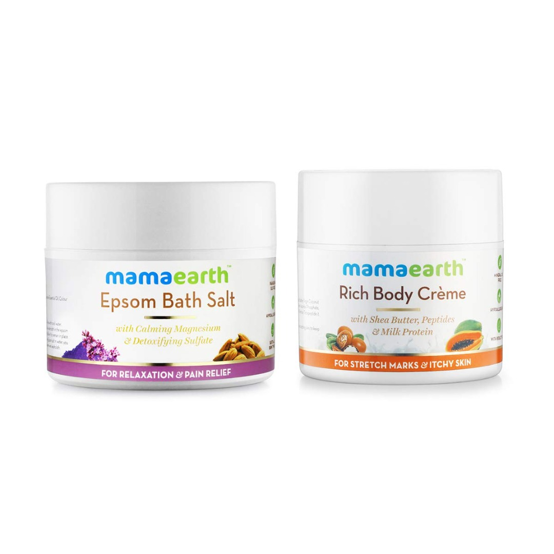 MamaEarth Epsom Bath Salt + Rich Body Creme