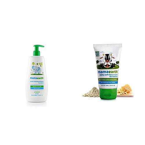 MamaEarth Milky Soft Face Cream 60ml + Gentle Cleansing Shampoo