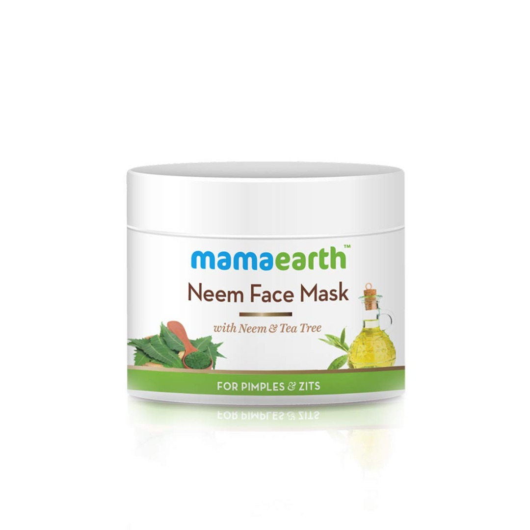 MamaEarth Neem Face Mask with Neem & Tea Tree for Pimples & Zits