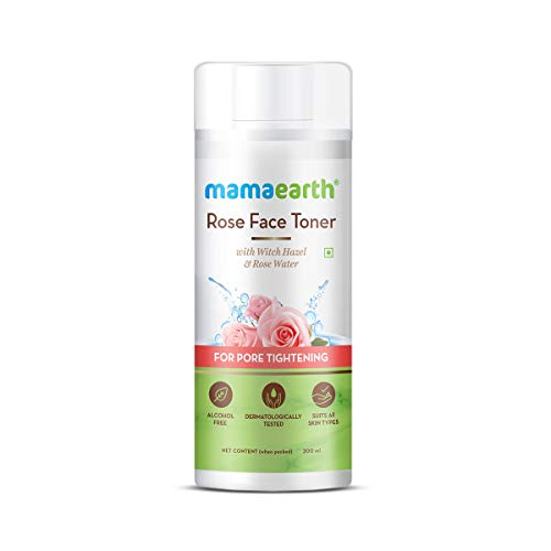 MamaEarth Rose Face Toner with Witch Hazel & Rose Water for Pore Tightening