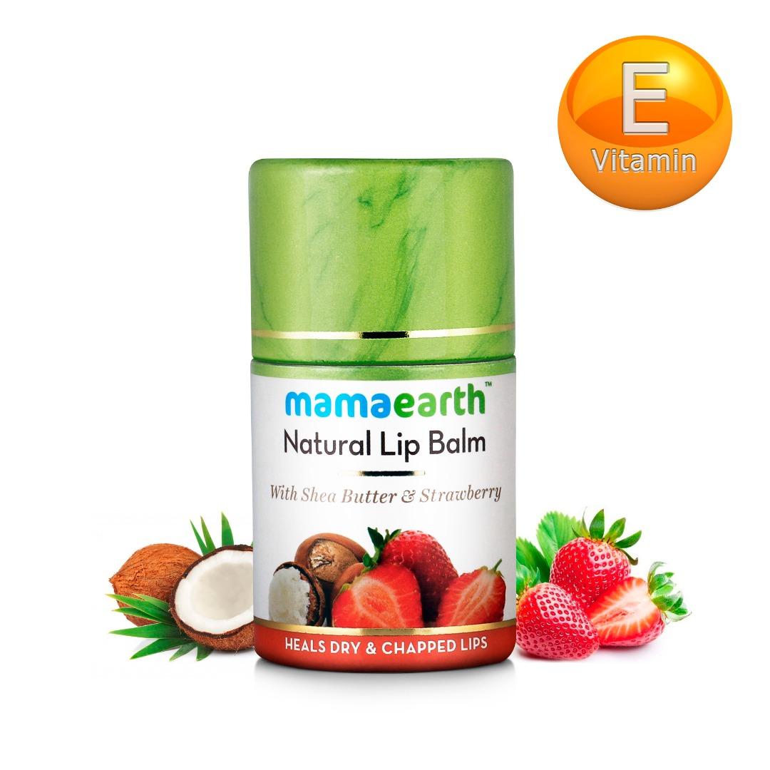 MamaEarth Strawberry Natural Lip Balm