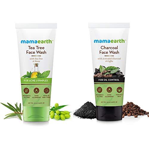 MamaEarth Tea Tree Face Wash + Charcoal Face Wash