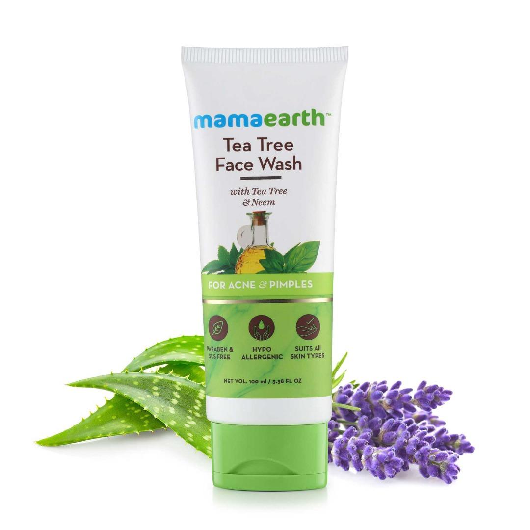 MamaEarth Tea Tree Facewash for Acne & Pimples
