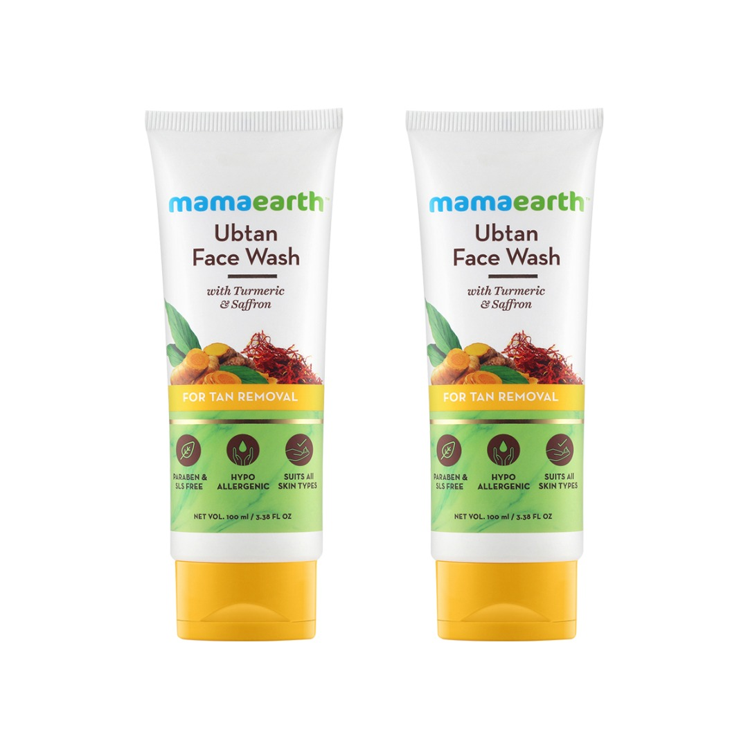 MamaEarth Ubtan Facewash for Tan Removal, Pack of 2