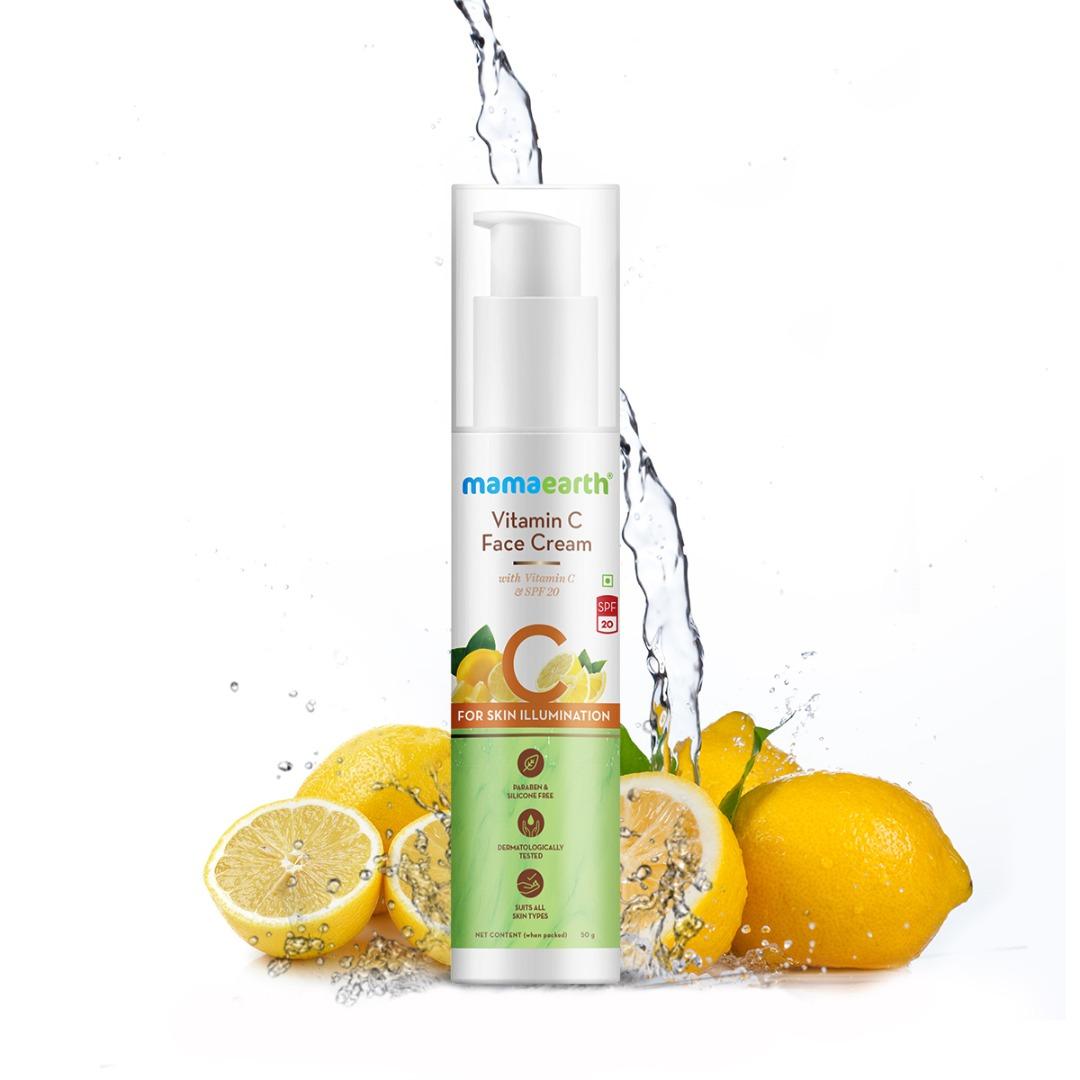 MamaEarth Vitamin C Face Cream with Vitamin C & Spf 20 for Skin Illumination