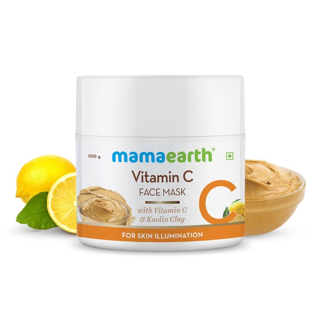 MamaEarth Vitamin C Face Mask with Vitamin C & Kaolin Clay for Skin Illumination
