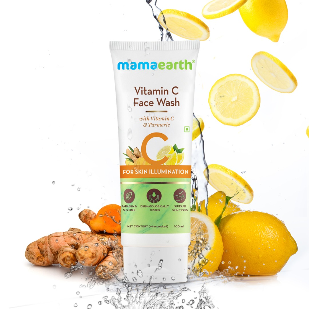 MamaEarth Vitamin C Face Wash with Vitamin C & Turmeric for Skin Illumination