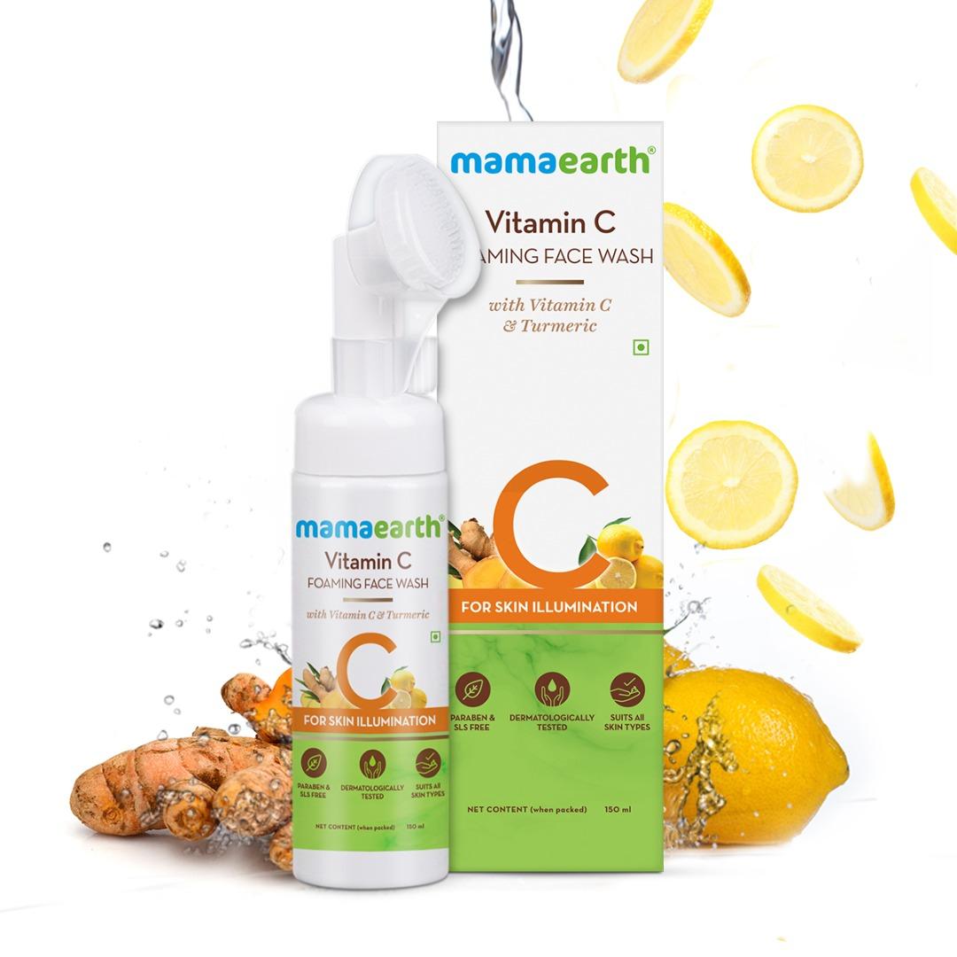 MamaEarth Vitamin C Foaming Face Wash with Vitamin C & Turmeric for Skin Illumination