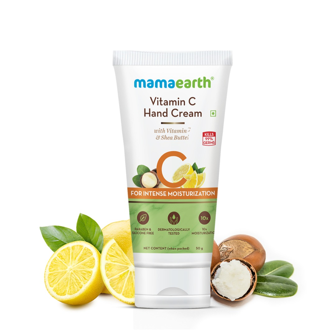 MamaEarth Vitamin C Hand Cream with Vitamin C & Shea Butter for Intense Moisturization