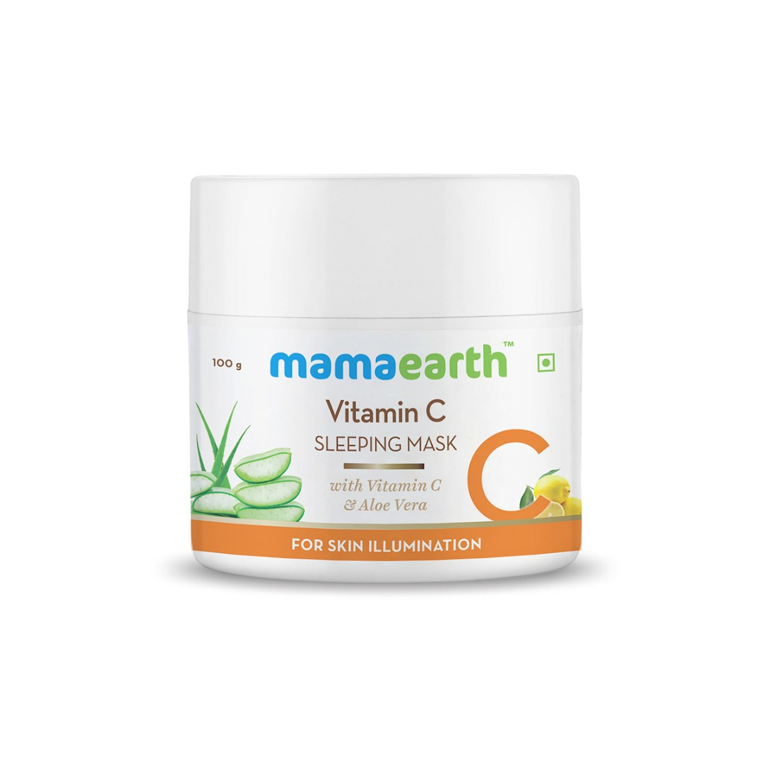 MamaEarth Vitamin C Sleeping Mask with Aloe Vera for Skin Illumination