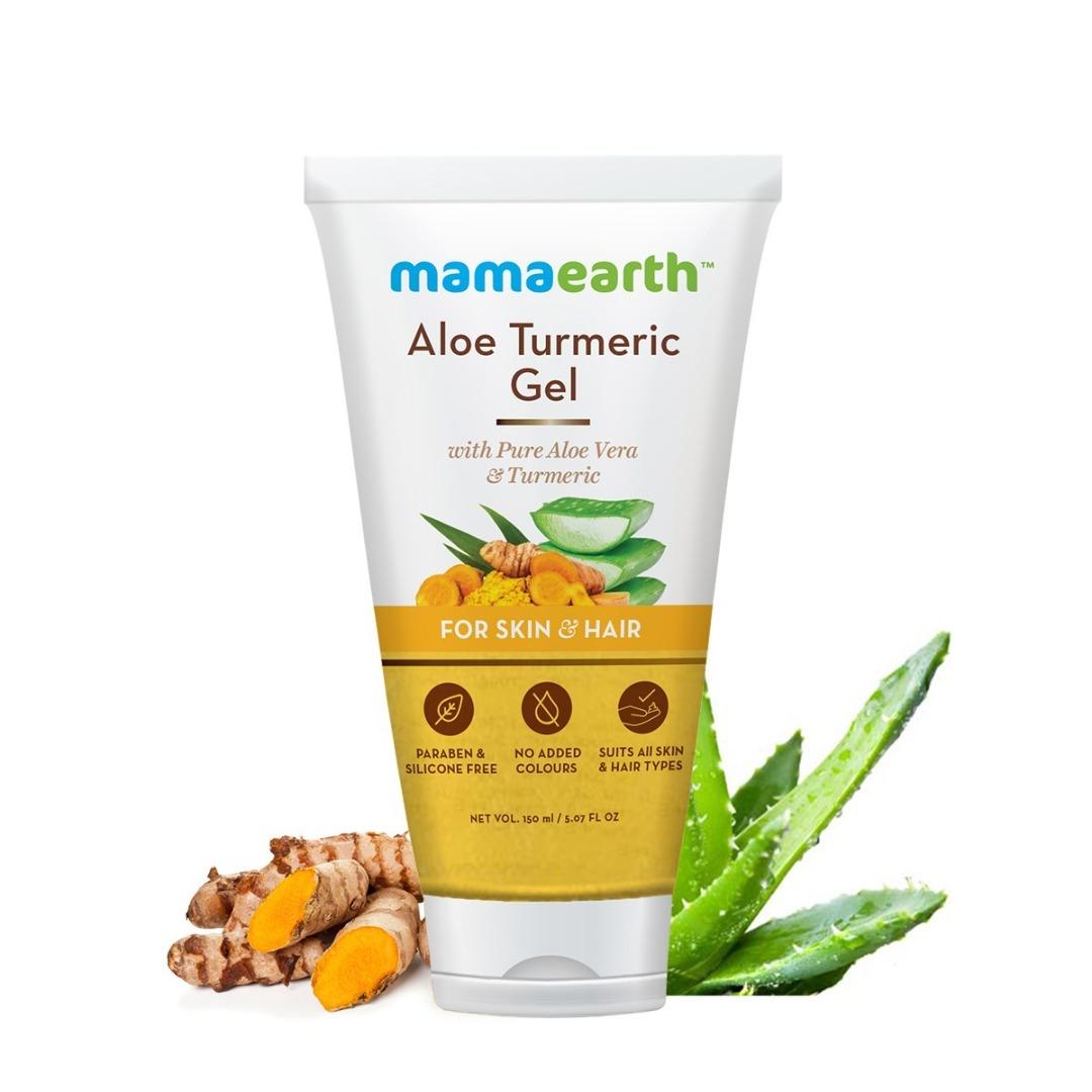 MamaEarth Aloe Turmeric Gel for Skin & Hair