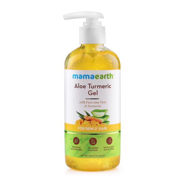 MamaEarth Aloe Turmeric Gel for Skin & Hair (Saver Pack, Get 20% Extra)