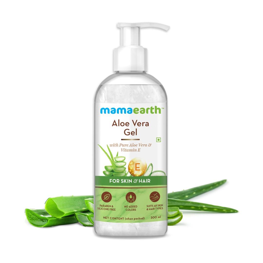 MamaEarth Aloe Vera Gel with Pure Aloe Vera & Vitamin E for Skin & Hair
