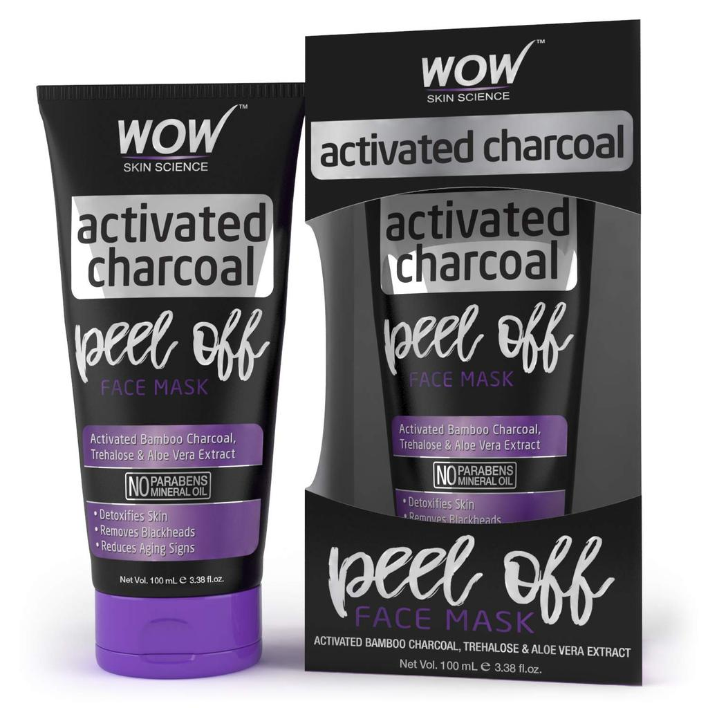Wow Activated Charcoal Face Peel off Mask