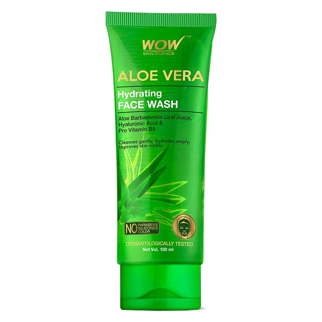 Wow Aloe Vera with Hyaluronic Acid & Pro Vitamin B5 Hydrating Gentle Face Wash