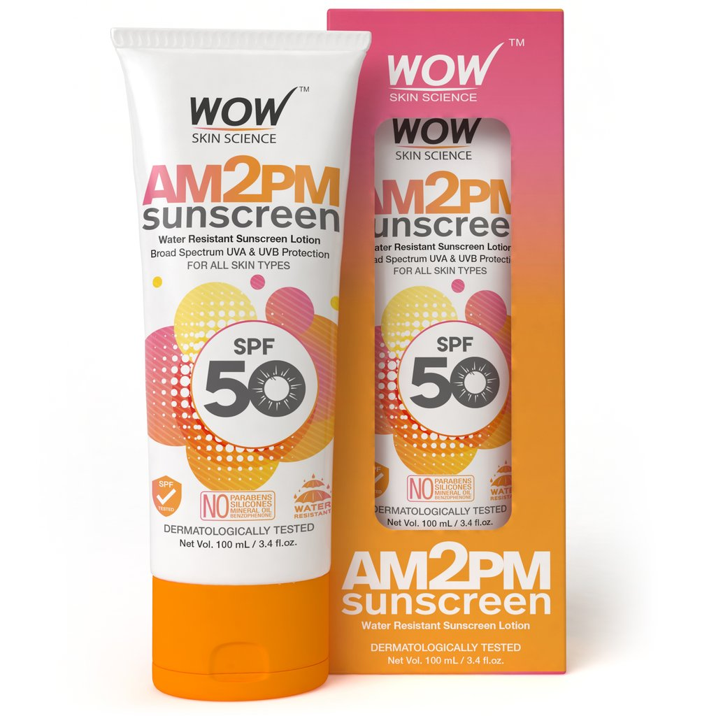 Wow Am2Pm SPF50 Water Resistant Sunscreen Lotion