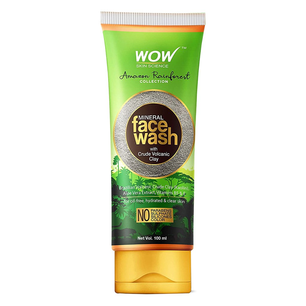 Wow Amazon Rainforest Collection Face Wash with Crude Volcanic Clay