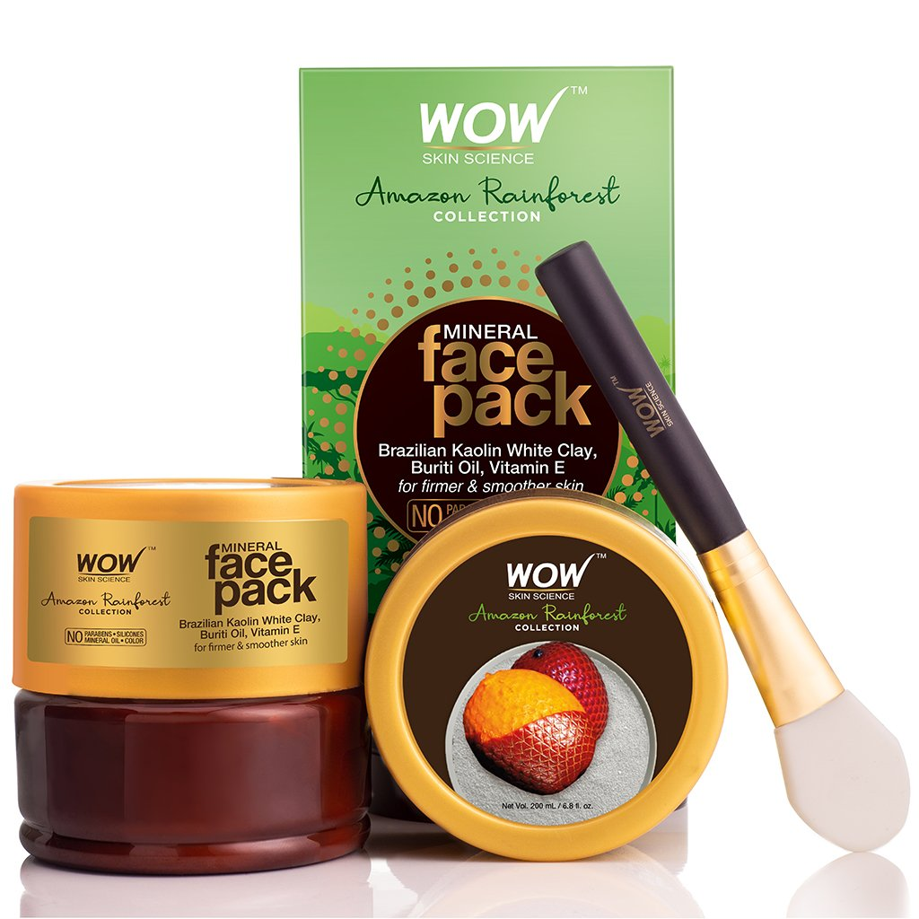 Wow Amazon Rainforest Collection Mineral Face Pack with Rainforest White Clay & Burti Oil