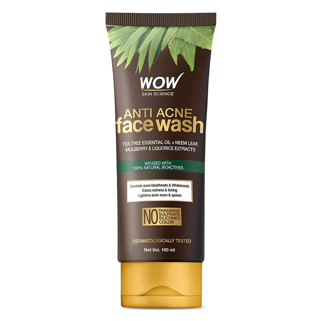 Wow Anti Acne Face Wash, Oil Free