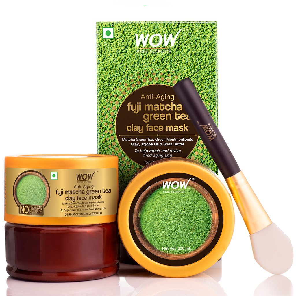 Wow Anti-Aging Fuji Matcha Green Tea Clay Face Mask