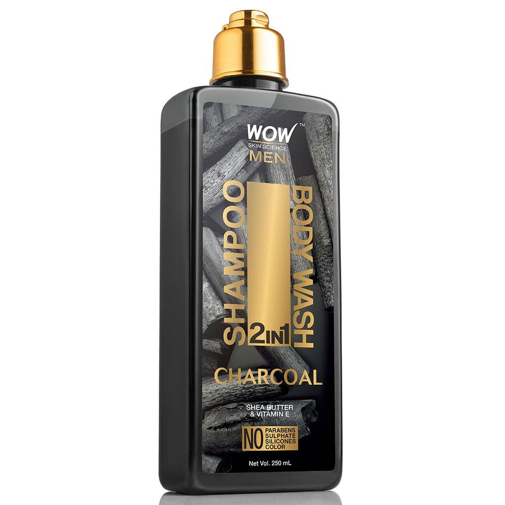 Wow Charcoal 2-In-1 Shampoo + Body Wash