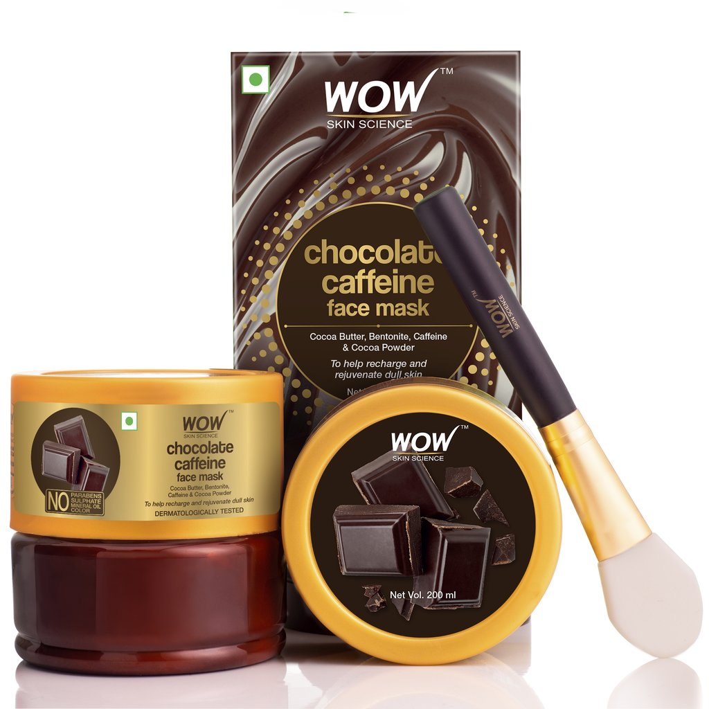 Wow Chocolate Caffeine Face Mask for Recharging & Rejuvenating Dull Skin
