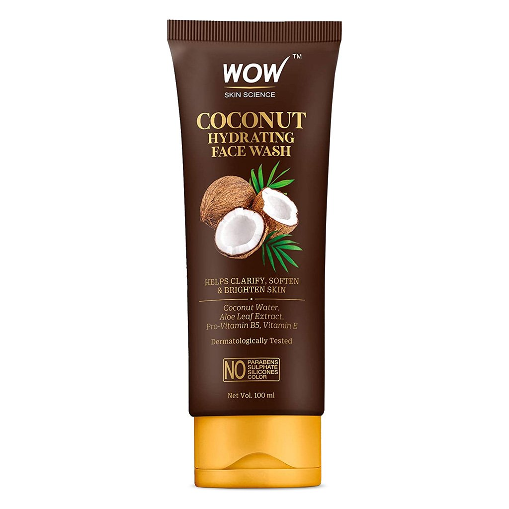 Wow Coconut Hydrating Face Wash with Coconut Water, Aloe Leaf Extract