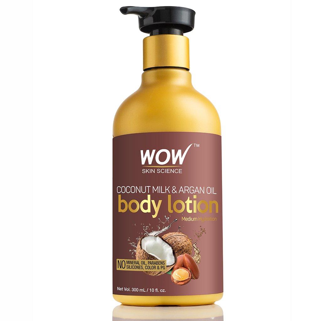 Wow Coconut Milk & Argan Oil Body Lotion, Medium Hydration