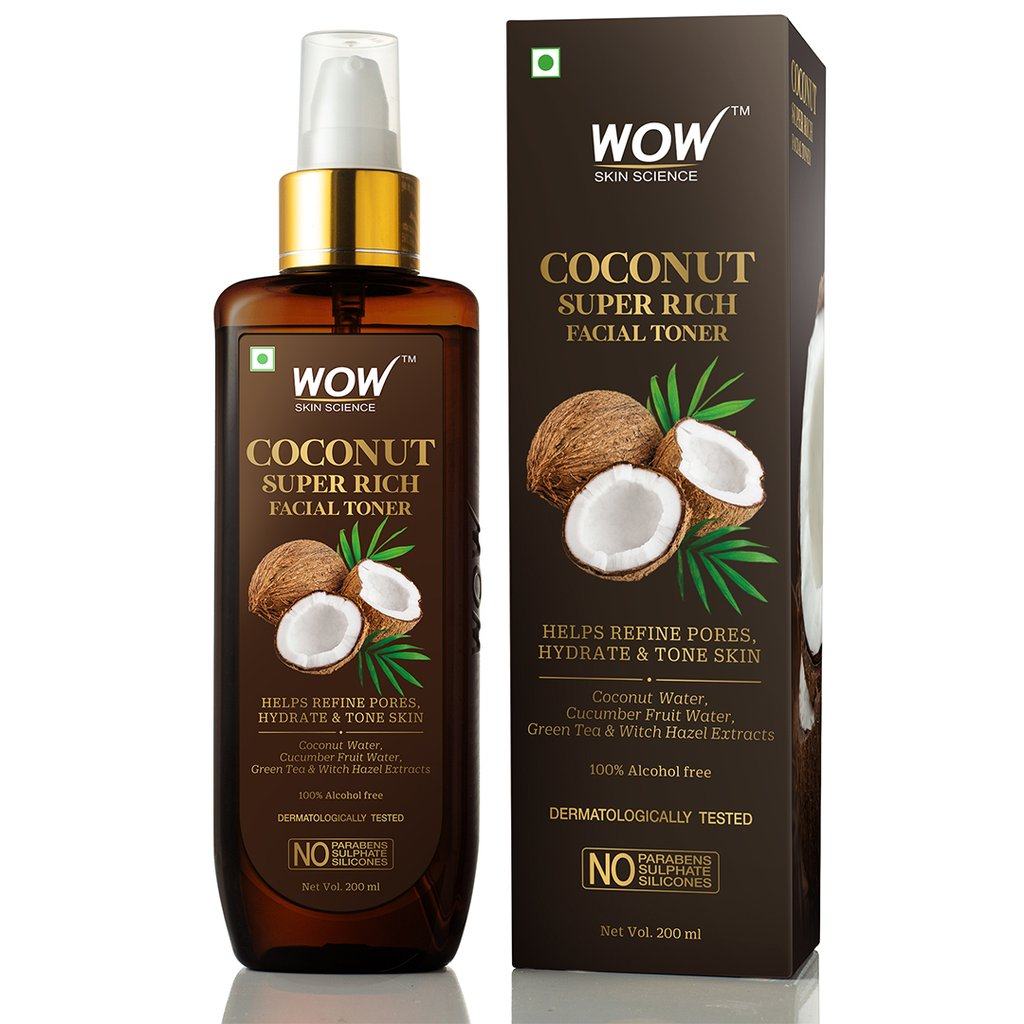 Wow Coconut Super Rich Facial Toner for Hydrating & Toning Skin
