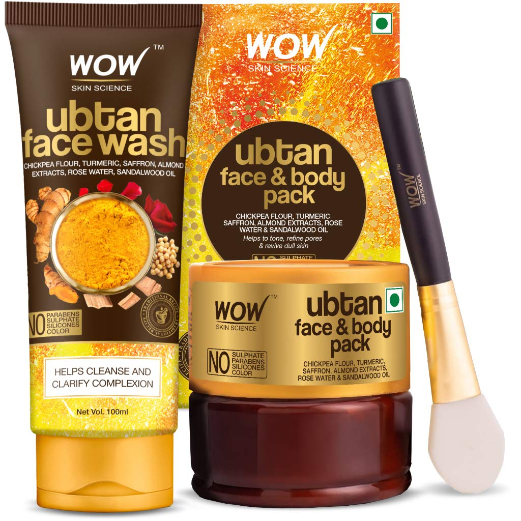 Wow Complexion Care Kit (Ubtan Face Wash + Ubtan Face & Body Pack)