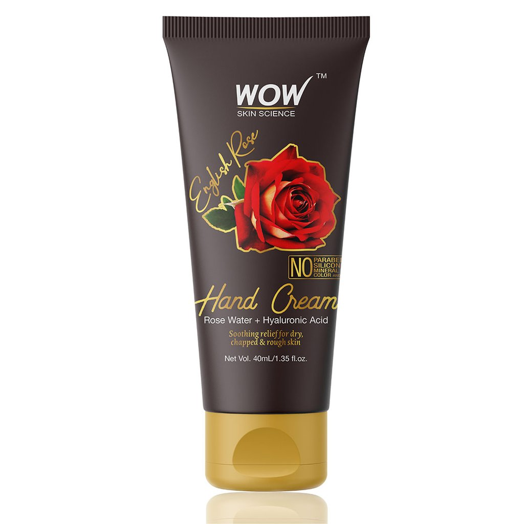 Wow English Rose Gentle Hand Cream with Rose Water + Hyaluronic Acid